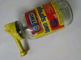 Vintage ortho lawn spray jar with hose attachment