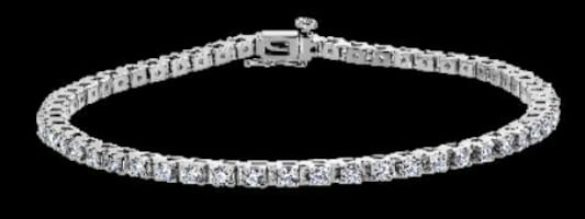 Stunning Diamond Tennis Bracelet - In 14kt White Gold - (2.15 CTW)