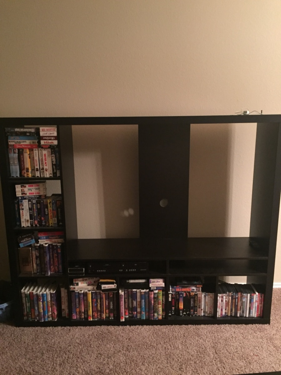 used ikea lappland entertainment center in austin. Black Bedroom Furniture Sets. Home Design Ideas