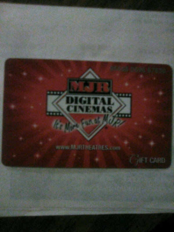25$ MJR giftcard