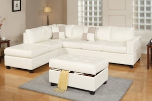 New Reversible Sectional With Ottoman. Delivery Included!