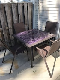 Rectangular brown patio table with chairs Waldorf, 20601