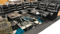 Brand new Black - brown leather sectional available Reclining sectional recliner 0$ DOWN NO CREDIT CHECK  Jacksonville, 32246