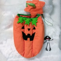 Dog Costume Pumpkin with Matching Hat