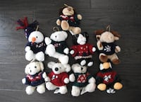 9 Five Inch Christmas Tree Ornament Stuffed Animals London, N6G