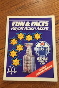 Oilers sticker book from McDonalds