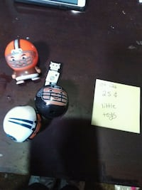 two white and black football helmets toy Anderson, 46016