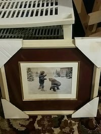 brown wooden framed photo of the Beatles Hamilton