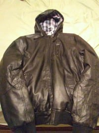 black leather zippered hoodie London, N6A 2T7