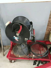 commercial power washer hose and reel. 100 ft of hose works great.  Newburg, 20664