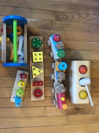 5 Baby wooden toys for $10 for the lot  Washington, 20012