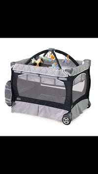 gray and black travel cot Sterling, 20165