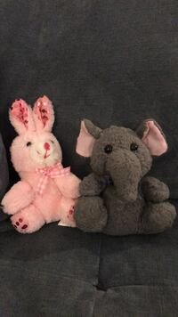 Little Bunny and Elephant Stuffed Animals Los Angeles, 90016