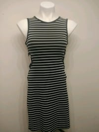 Juniors Black and White Striped Dress Live Oak, 78233
