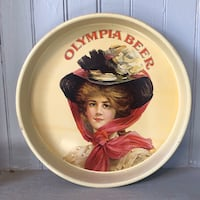 Vintage Olympia Metal Beer Tray | Serving Tray