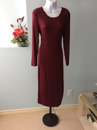 Wine Sweater Dress Edmonton, T5Y 2X6
