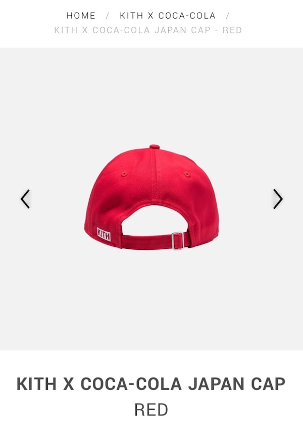 97f26c6a98a5b Used KITH X COCA-COLA RED JAPAN CAP SOLD OUT for sale in Bloomfield - letgo
