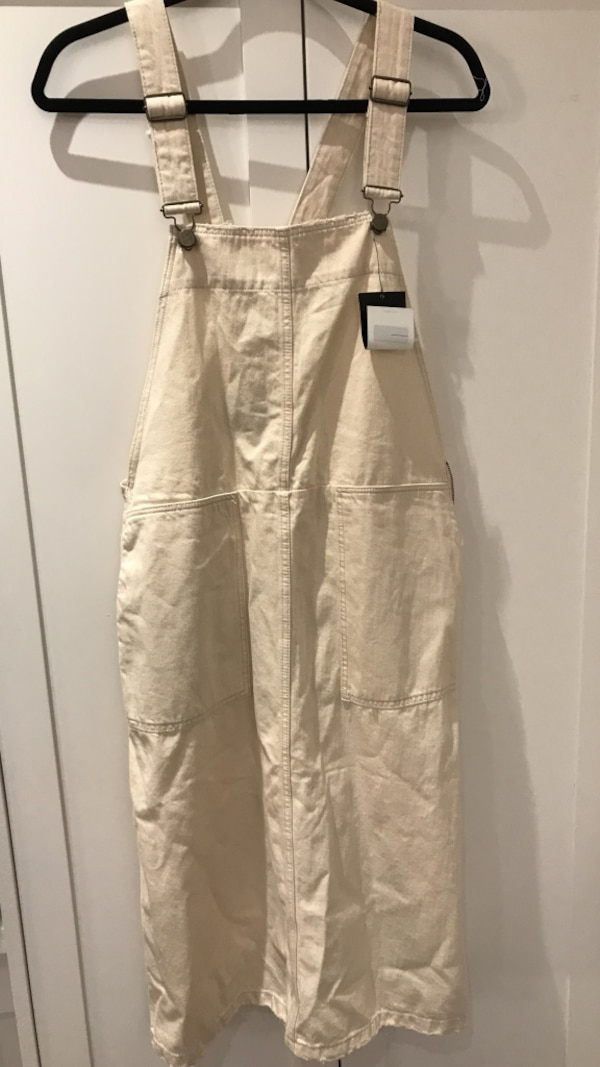 ZARA overall dress sz large nwt
