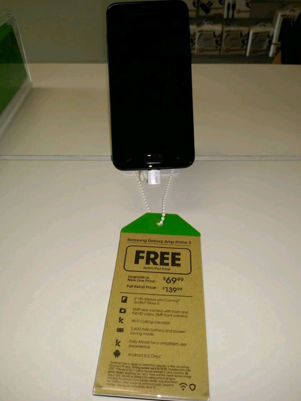 Used Samsung galaxy Amp Prime 3 @Cricket in Pace for sale in