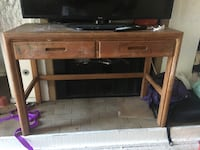 Brown wooden tv table  Irvine, 92604