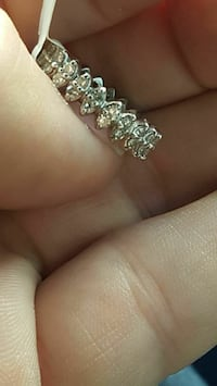 14kt Gold Diamond eternity ring 6.5
