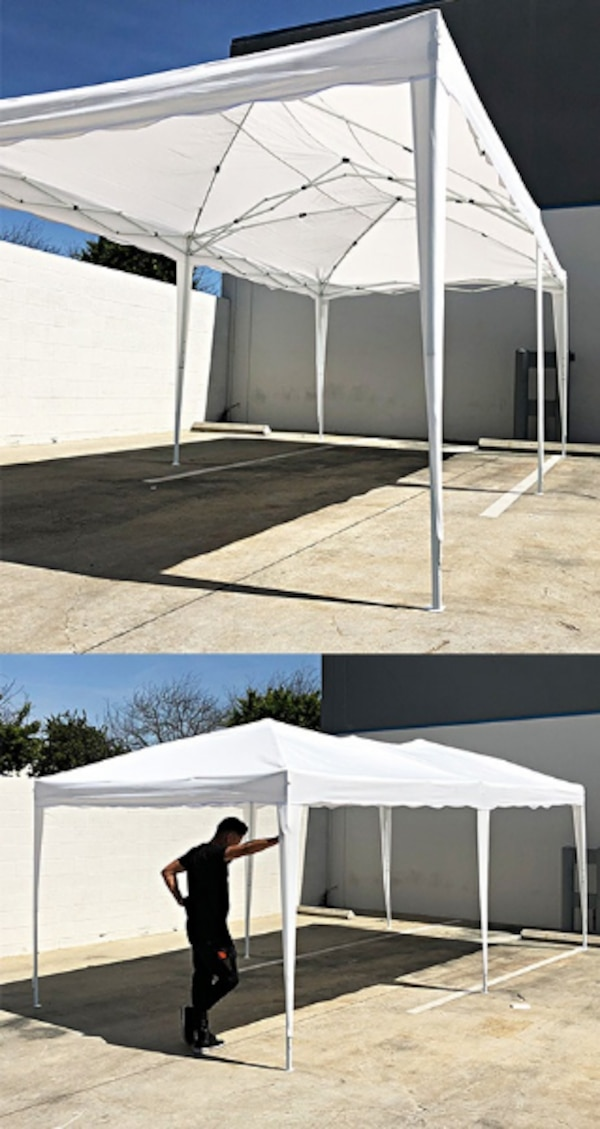 quality design d43c1 ee1a5 New $140 White color 10x20 ft EZ Pop Up Canopy Outdoor Sun Shade, Carrying  Bag