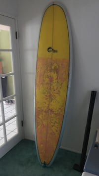 Yellow, white and blue  surfboard Mission Viejo, 92691