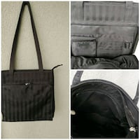 Black 2 way stripe handbag Kitchener, N2G 4X6