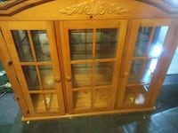 brown wooden framed glass cabinet Calumet City, 60409