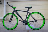 Black and green road bike