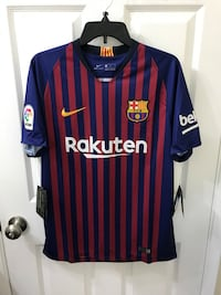 Barcelona FC Nike Home Soccer Football Jersey 2018/19 Sz S or M or L