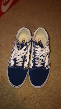 pair of blue-and-white Vans sneakers Decatur, 30034