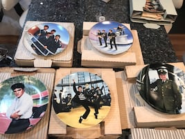Elvis & The Beatles Collectible Plates