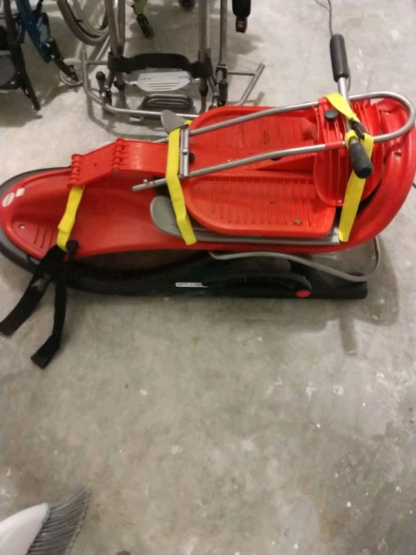 sled for kids with disabilities. 1 adult can ride on the back to steer