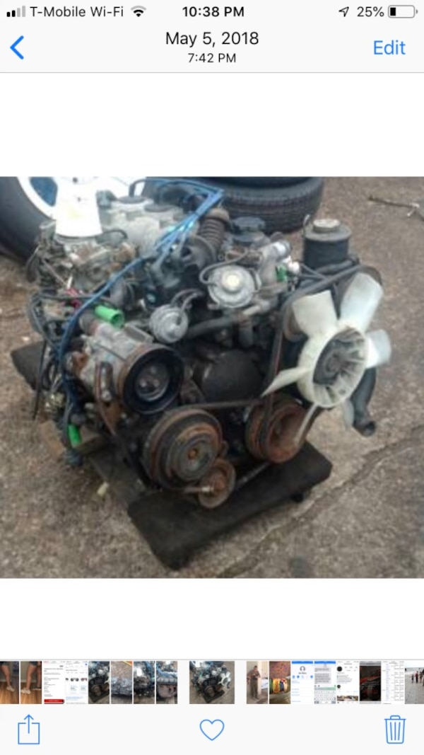 Toyota Corolla 3tc 1 8 motor & 5 speed transmission