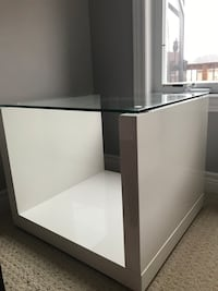 Glass End Table x2