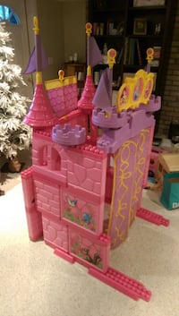 Pink, purple and yellow disney princess castle toy can be built any way or used as a headboard - great fun and in excellent condition- valued new at over $200 Wilmot, N0B
