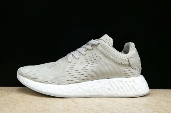 best website 82393 9dad5 Wings+Horns x adidas NMD R2 Primeknit Light Grey-FTW White BB3118 For Sale