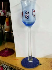 blue and red wine glass shot glass size Newport News, 23607