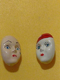 Lovely Antique Vintage Faces Pins/ Broochesc Chicago