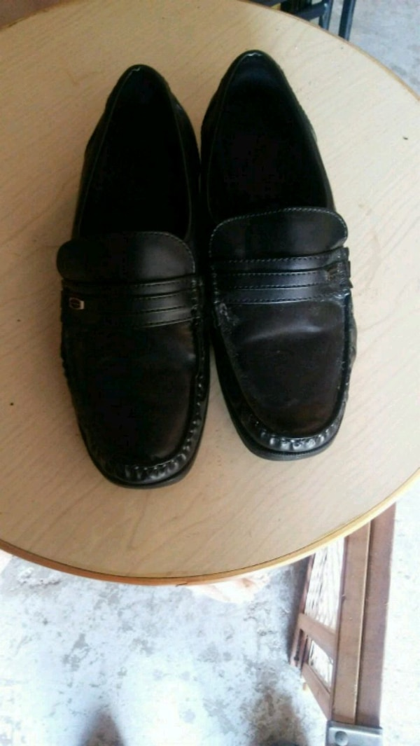 8565a7626 Used pair of black leather slip-on shoes for sale in Houston - letgo