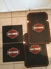 4 Harley-Davidson truck floor mats for front and b