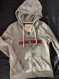 Abercrombie Gray Zip-Up Sweater