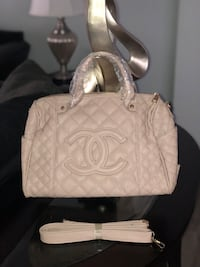 white leather quilted tote bag Las Vegas, 89110