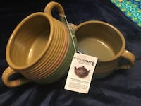 two brown ceramic bowls and two white ceramic mugs Annandale, 22003