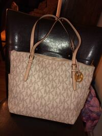 white and gray Michael Kors leather tote bag Amarillo, 79109