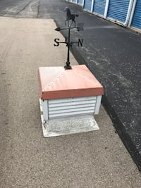 White adjustable cupola with copper top and weathervane  Dayton, 45414