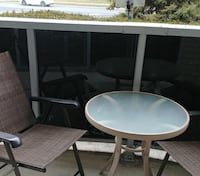 Bistro table and 2 Patio Chairs BURLINGTON