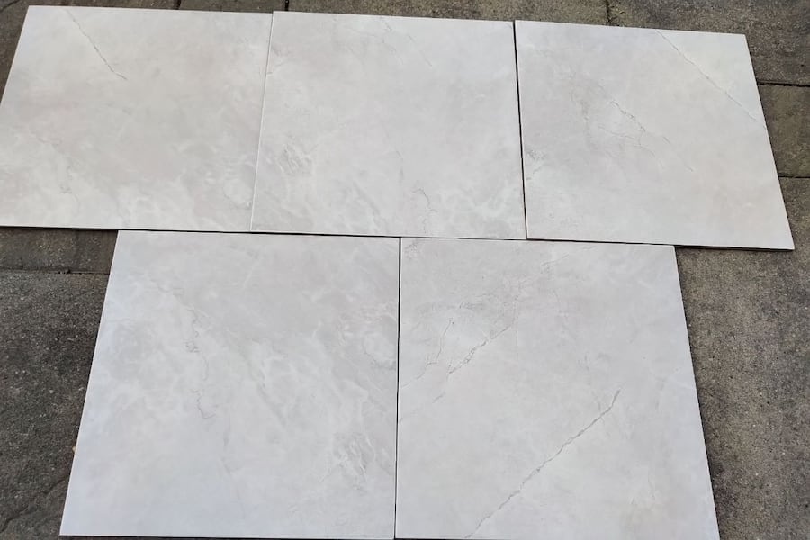 Brand New 13 x 13 White Porcelain Tiles  0