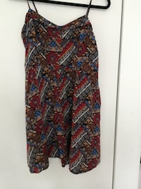 red brown and blue spaghetti strap top